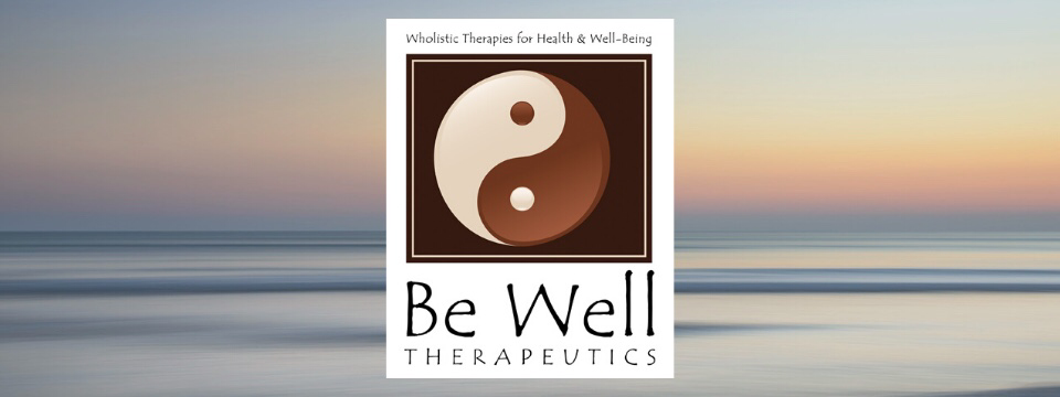Be Well Therapeutics logo with soft ocean horizon